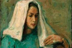 Бела марама, 1935, уље на платну, 73x60цм