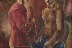 Две фигуре, 1923, уље на платну, 73x54цм