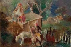 Пред циркусом, 1925, уље на платну, 60x71,8цм