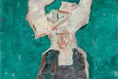 Уснула калуђерица, 1966/67, уље на платну, 55x46цм